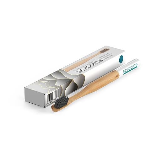 Зубная щетка из бамбука (синяя)
