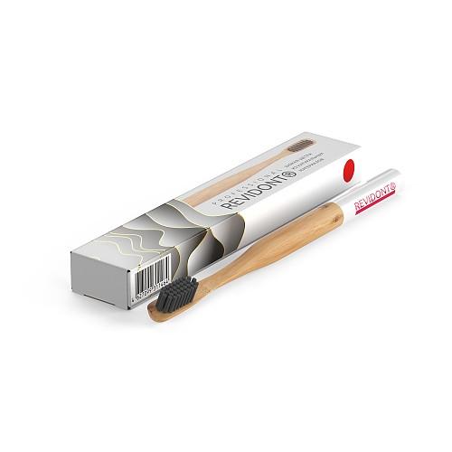 Зубная щетка из бамбука (красная)