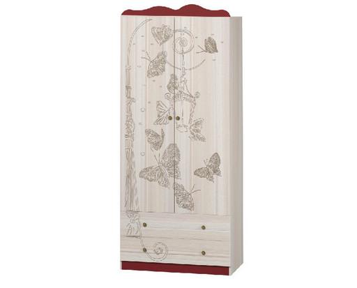 Шкаф 2х-дверный Бабочки