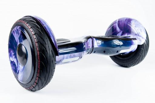 """Гироскутер Smart Balance SUV Фиолетовые Облака 10.5"""" PRO + Самобаланс + TaoTao"""