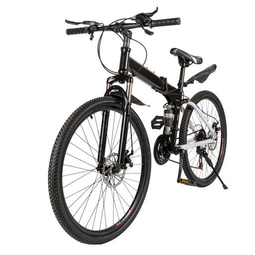 Велосипед на спицах 26 дюймов черный с амортизатором