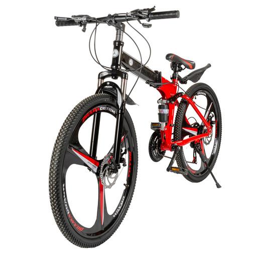 Велосипед на новых дисках 26 дюймов с амортизатором красный