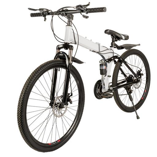 Велосипед на спицах 26 дюймов с амортизатором белый