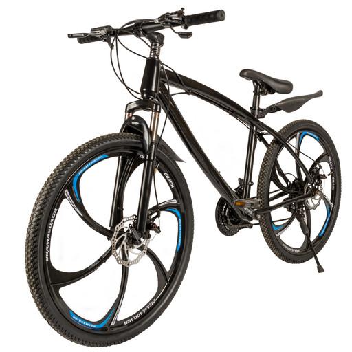 Велосипед на дисках 26 дюймов без амортизатора черный