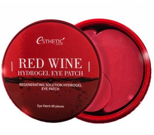 Укрепляющие гидрогелевые патчи с экстрактом красного вина Esthetic House Red Wine Hydrogel Eye Patch
