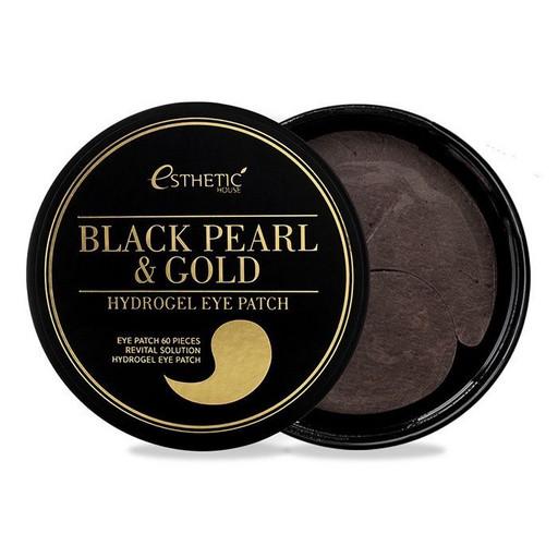 Гидрогелевые патчи с экстрактом чёрного жемчуга и золота Esthetic House Black Pearl & Gold Hydrogel Eye Patch