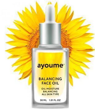 Масло для лица восстанавливающее с подсолнухом Ayoume Balancing Face Oil With Sunflower