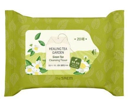 Очищающие салфетки для снятия макияжа The Saem Healing Tea Garden Green Tea Cleansing Tissue