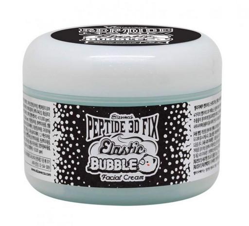 Пузырьковый крем с пептидами Elizavecca Peptide 3D Fix Elastic Bubble Facial Cream