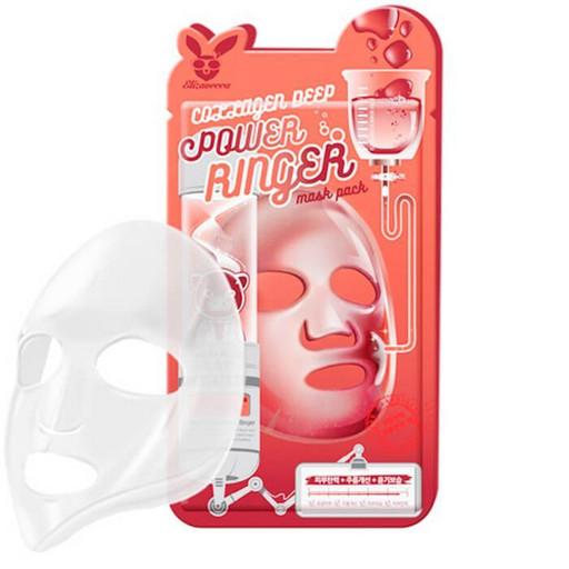 Омолаживающая тканевая маска с коллагеном  Elizavecca Collagen Deep Power Ringer Mask Pack