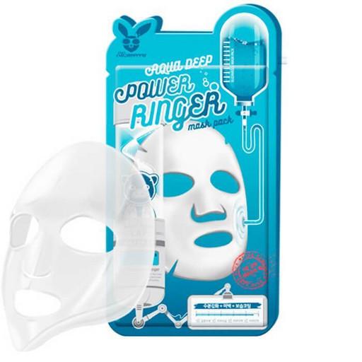 Увлажняющая тканевая маска с гиалуроновой кислотой Elizavecca  Deep Power Ringer Mask Pack Aqua