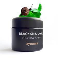 Крем для лица с муцином чёрной улитки Ayoume 90% Black Snail Prestige Cream