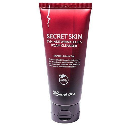 Пенка для умывания со змеиным ядом Secret Skin Syn-Ake Wrinkleless Foam Cleanser