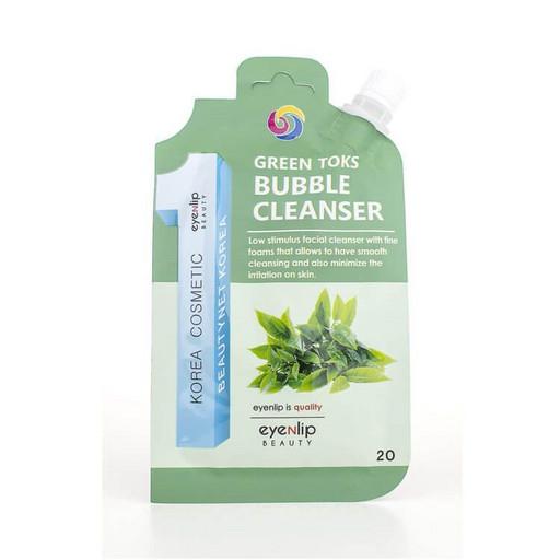 Гидрофильное масло-пенка для умывания с чаем Eyenlip Green Toks Bubble Cleanser