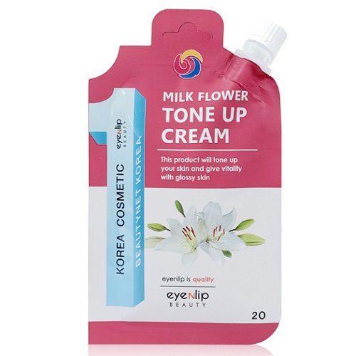 Осветляющий крем с жемчужными капсулами Eyenlip Milk Flower Tone Up Cream