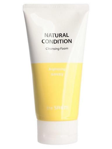Очищающая пенка для яркости кожи The Saem Natural Condition Cleansing Foam Brightening
