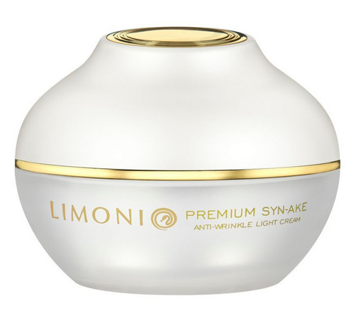 Крем антивозрастной легкий со змеиным ядом для лица LIMONI Premium Syn-Ake Anti-Wrinkle Cream Light