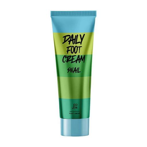 Крем для увлажнения и смягчения огрубевшей кожи ног с муцином улитки J:ON Daily Foot Cream Snail