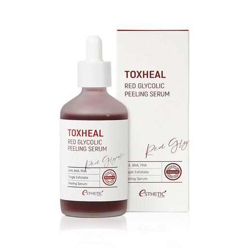 Пилинг-сыворотка для мягкого отшелушивания и выравнивания тона кожи лица Esthetic House Toxheal Red Glycolic Peeling Serum