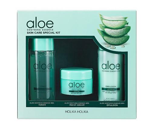 Набор миниатюр для ухода за кожей с экстрактом алоэ Holika Holika Aloe Soothing Essence Skincare Special Kit