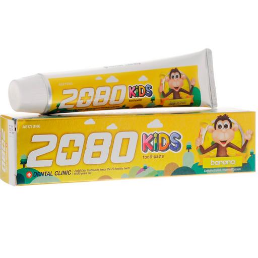 Детская зубная паста со вкусом банана Dental Clinic 2080 KIDS banana