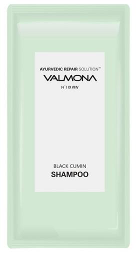 Пробник аюрведического шампуня для оздоровления кожи головы и профилактики выпадения волос Evas Valmona Ayurvedic Scalp Solution Black Cumin Shampoo