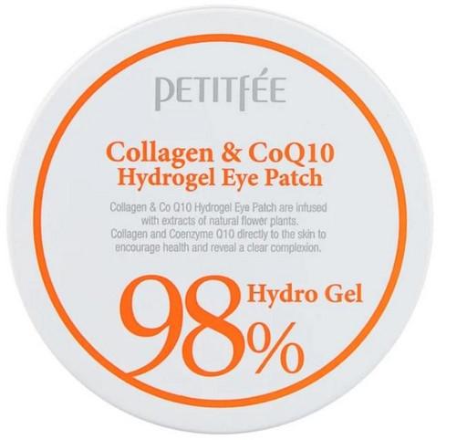 Гидрогелевые патчи для глаз с коллагеном и коэнзимом Q10 Petitfee Collagen & Q10 Hydro Gel Eye Patch