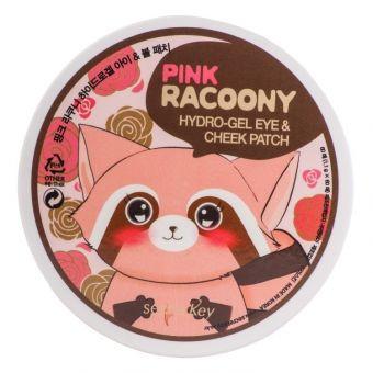Гидрогелевые патчи с экстрактом розы для глаз и щек Secret Key Pink Racoony Hydro-Gel Eye & Cheek Patch