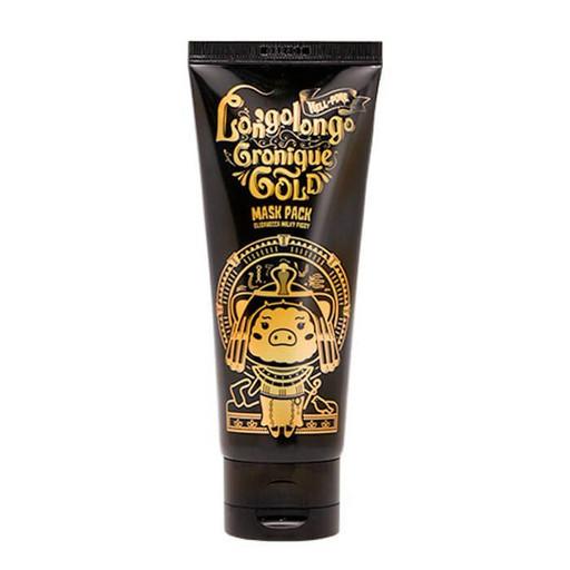 Глубокоочищающая поры маска на основе 24К золота, пептидов и EGF-фактора Elizavecca Hell-Pore Longolongo Gronique Gold Mask Pack