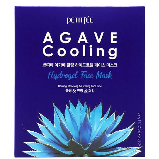 Охлаждающая гидрогелевая маска с агавой и кофеином Petitfee Agave Cooling Hydrogel Face Mask