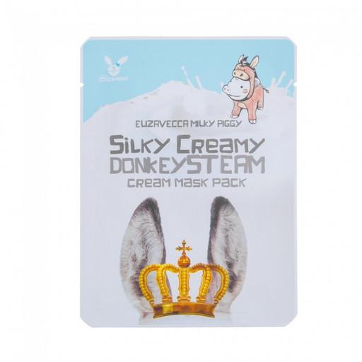 Питательная маска с паровым кремом на основе ослиного молока Elizavecca Silky Creamy Donkey Steam Cream Mask