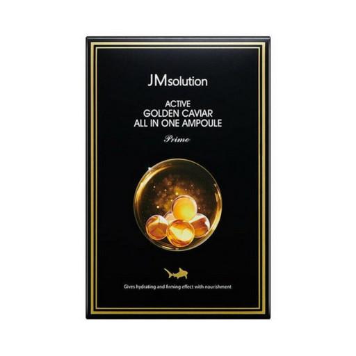 Сыворотка 3 в 1 с экстрактом икры и 24К золотом JMsolution Active Golden Caviar All In One Ampoule Prime