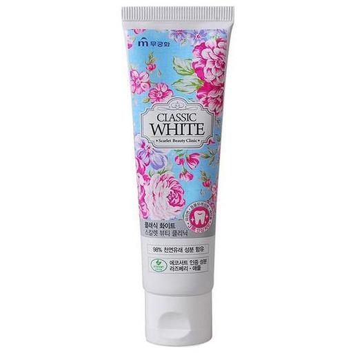 Отбеливающая гелевая зубная паста с ароматом мяты и ягод Mukunghwa Classic White Saphire Beauty Clinic