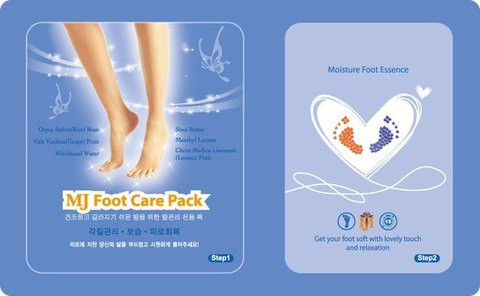 Маска-носочки для ног с гиалуроновой кислотой MIJIN  FOOT CARE PACK