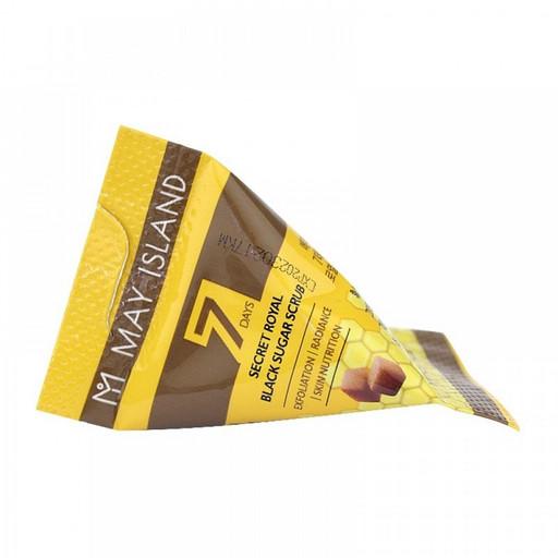Сахарный скраб для лица с мёдом в 7 Days Secret Royal Black Sugar Scrub May Island