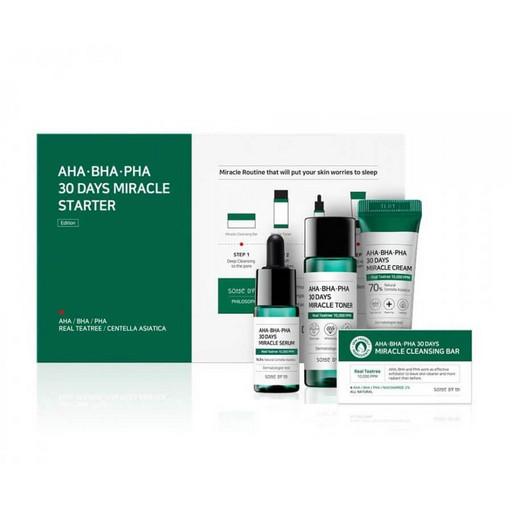 Набор по уходу за проблемной кожей с кислотами Some By Mi AHA-BHA-PHA 30 Days Miracle Starter Kit