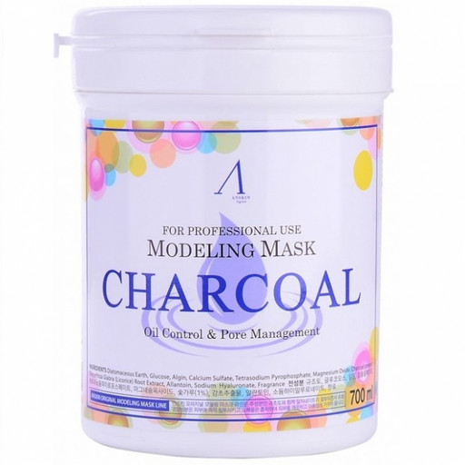 Альгинатная маска с черным углем для жирной и комбинированной кожи Anskin Charcoal Modeling Mask