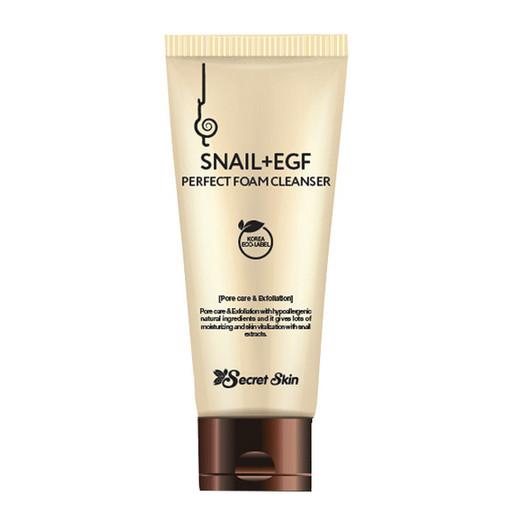 Антивозрастная пенка для умывания Secret Skin Snail+EGF Perfect Foam Cleanser