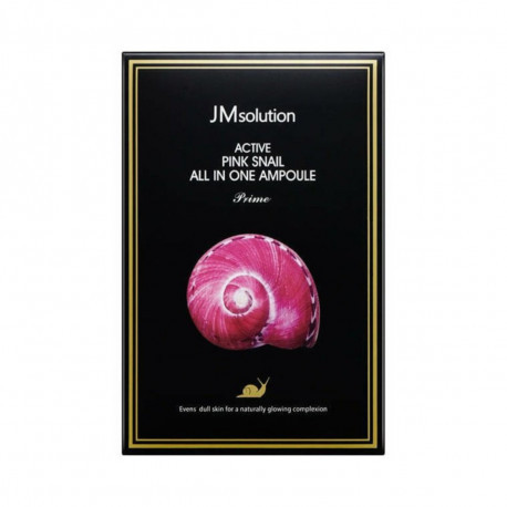 Сыворотка 3 в 1 с муцином улитки и витамином В12 JMsolution Active Pink Snail All In One Ampoule Prime