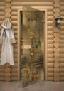 Двери для сауны с фьюзингом