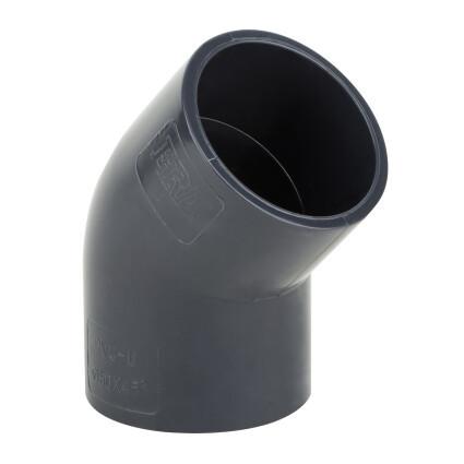 Отвод ПВХ 45°/20 мм