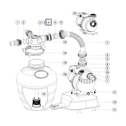 Переходной адаптер для фильтров AquaViva серии FSU (1013047)