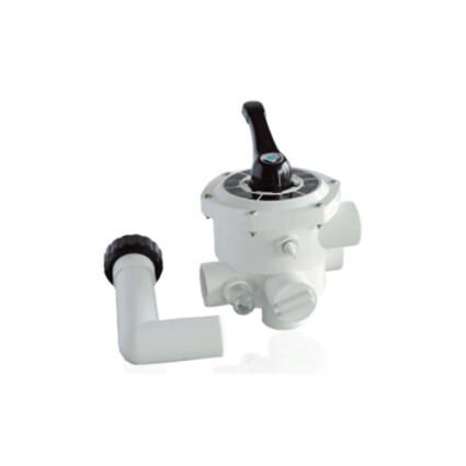 "Кран шестиходовой Aquaviva MPV03 (1,5"") боковой (88280811W) белый"