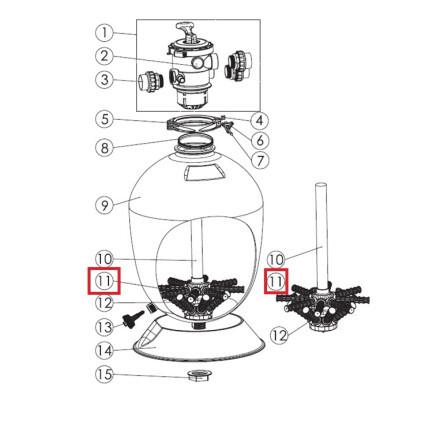 СепараторфильтраAquavivaT600B/T700B148мм