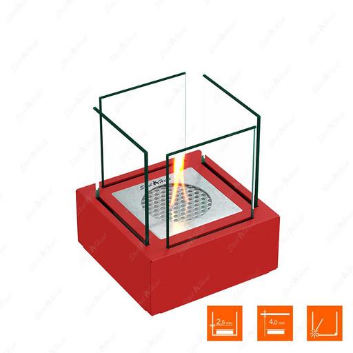 Настольный биокамин SteelHeat Gloria красный