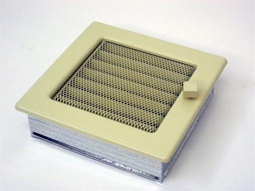 Вентиляционная решетка 17х17 бежевая с жалюзи
