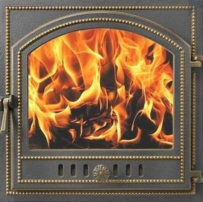 Дверь Везувий 205 стекло (бронза)