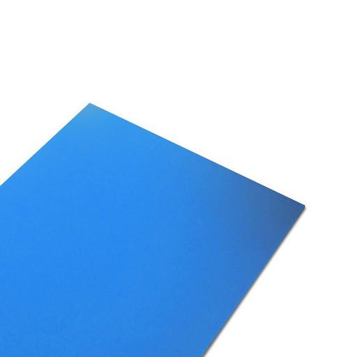 Профильный лист ПВХ голубой