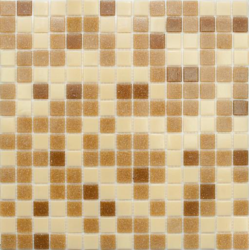 Мозаика Mix3 стекло коричневый (бумага) ( сетка)