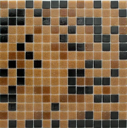Мозаика Mix8 стекло черно-коричневый (бумага)